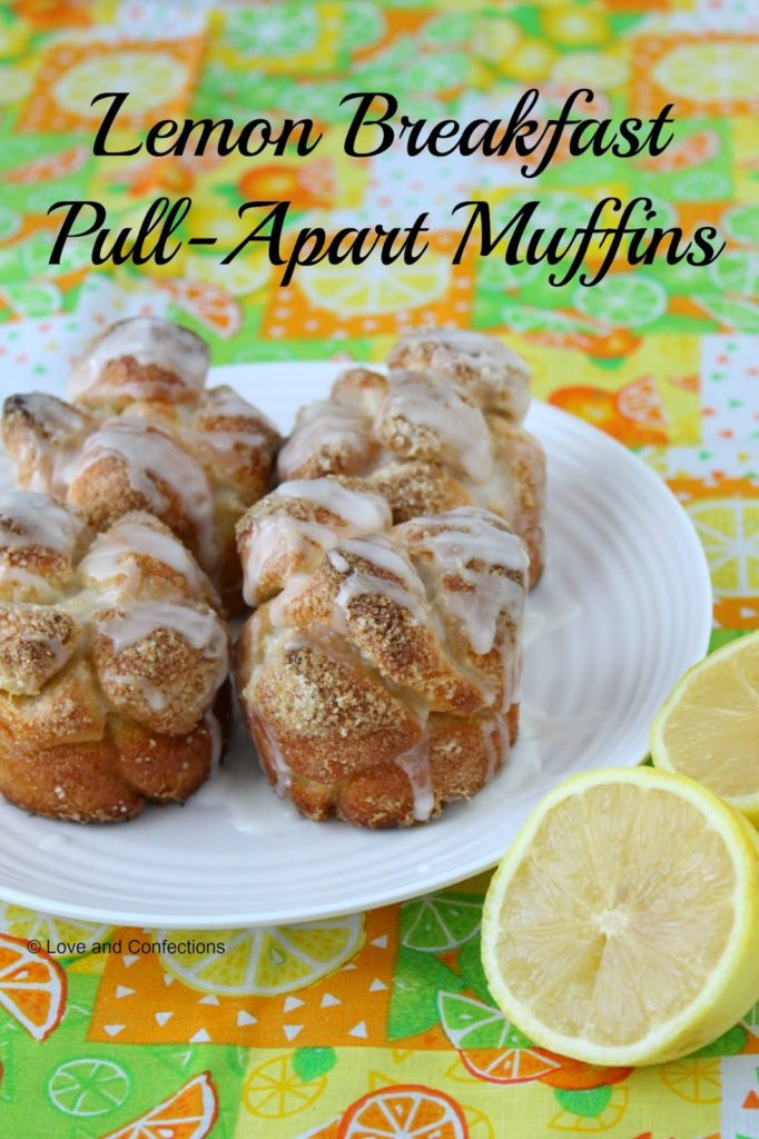 Lemon Pull-Apart Breakfast Muffins from Love and Confections