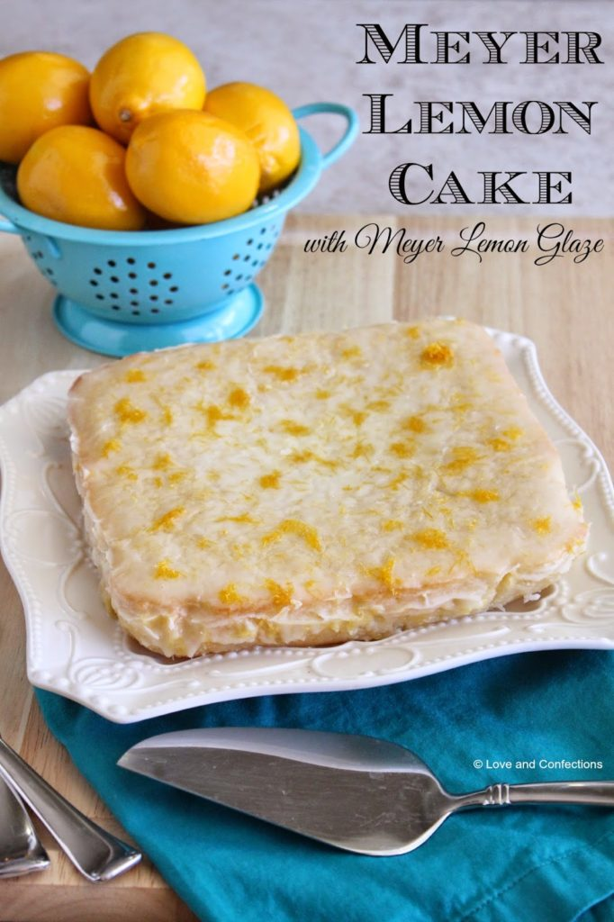 Meyer Lemon Cake with Meyer Lemon Glaze from Love and Confections