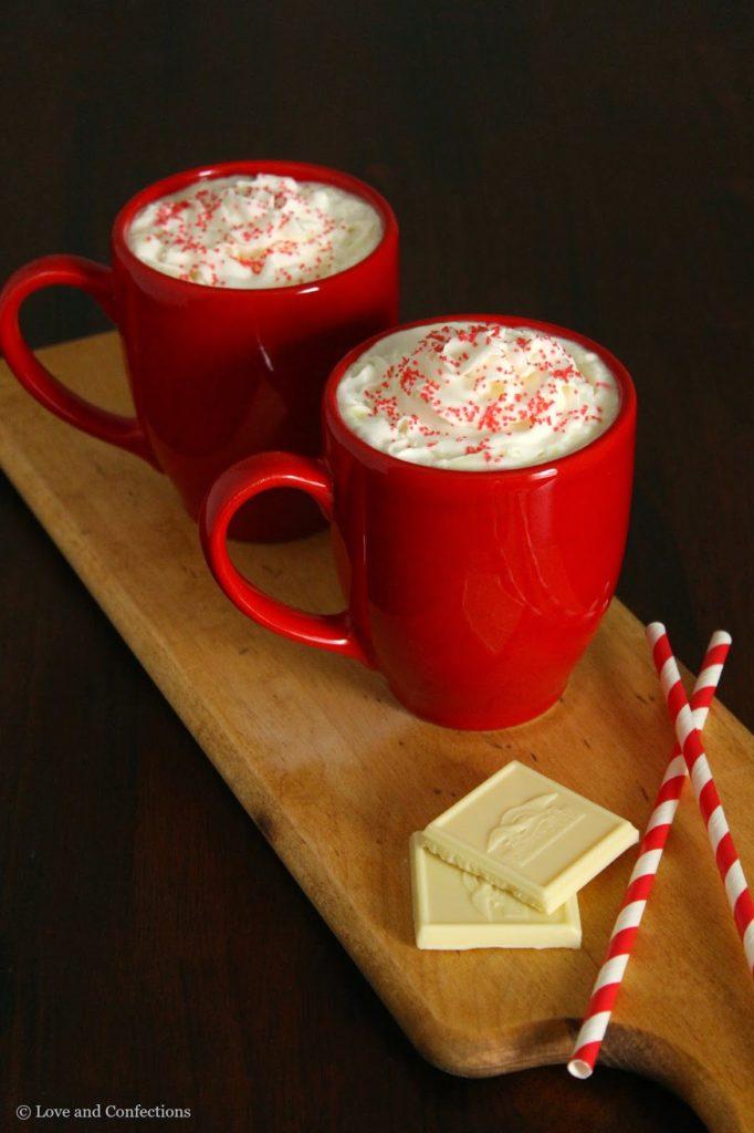 Vanilla Bean White Hot Chocolate from LoveandConfections.com #VanillaWeek