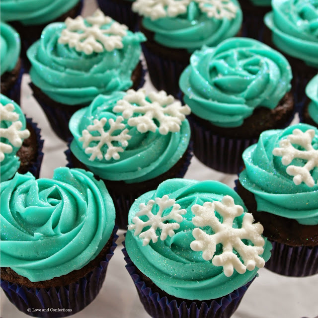 Frozen Party and Royal Icing Snowflakes from LoveandConfections.com