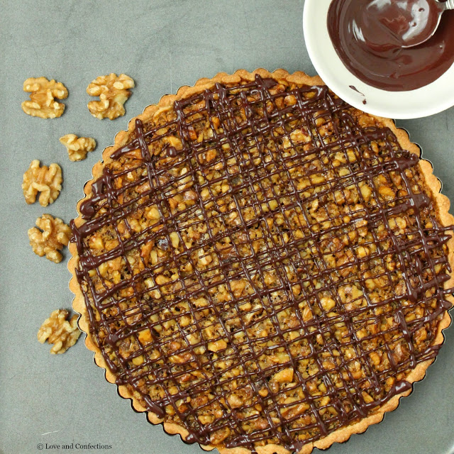 Whiskey Walnut Tart from LoveandConfections.com #BrunchWeek