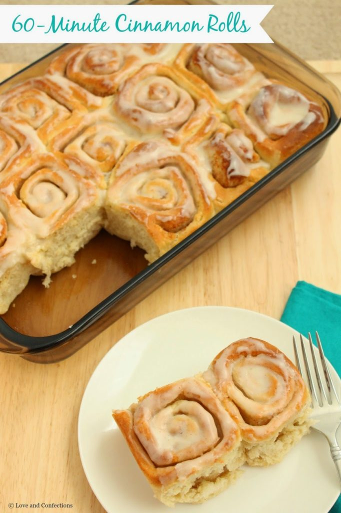 60-Minute Cinnamon Rolls from LoveandConfections.com for #BrunchWeek