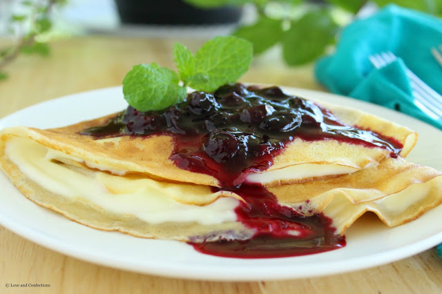 Lemon Blueberry Crepes for #BrunchWeek from LoveandConfections.com