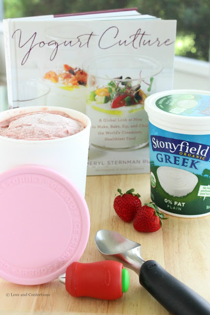 Ultimate Strawberry Frozen Yogurt from LoveandConfections.com