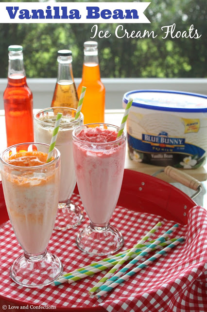 Vanilla Bean Ice Cream Floats from LoveandConfections.com #SunsOutSpoonsOut