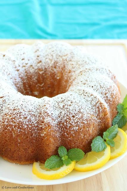 Lemon Ricotta Bundt Cake from LoveandConfections.com