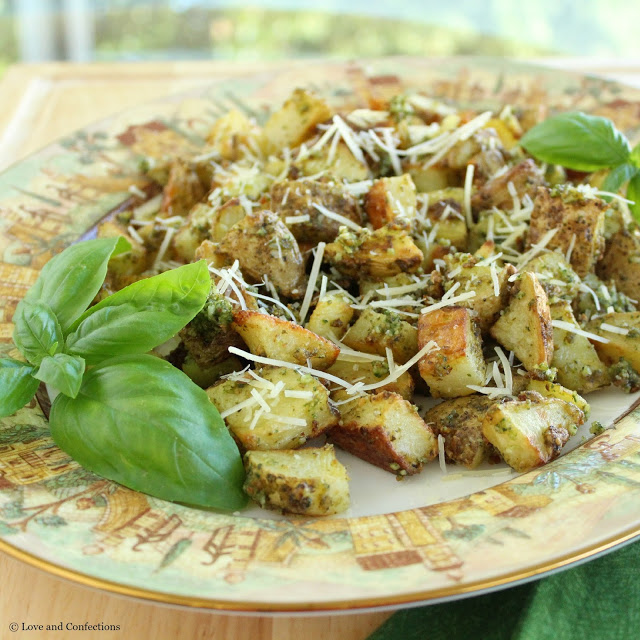 Parmesan Pesto Potatoes from LoveandConfections.com #FWCon