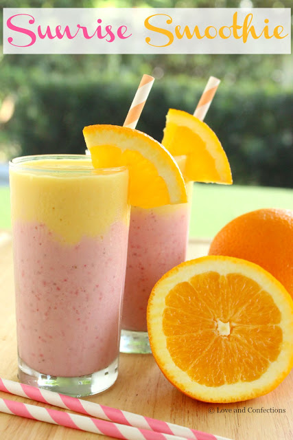 Sunrise Smoothie from LoveandConfections.com