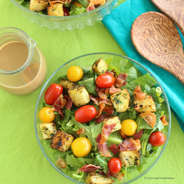Charred Romaine Salad with Creamy Balsamic Dressing from LoveandConfections.com #StonyfieldBlogger