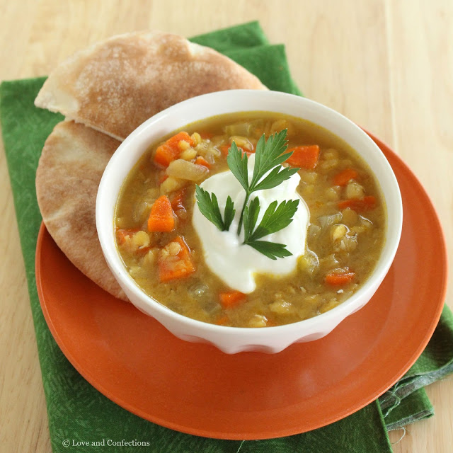 Red Lentil Soup from LoveandConfections.com