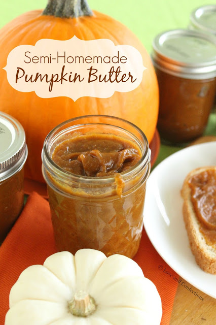 Semi-Homemade Pumpkin Butter from LoveandConfections.com #PumpkinWeek