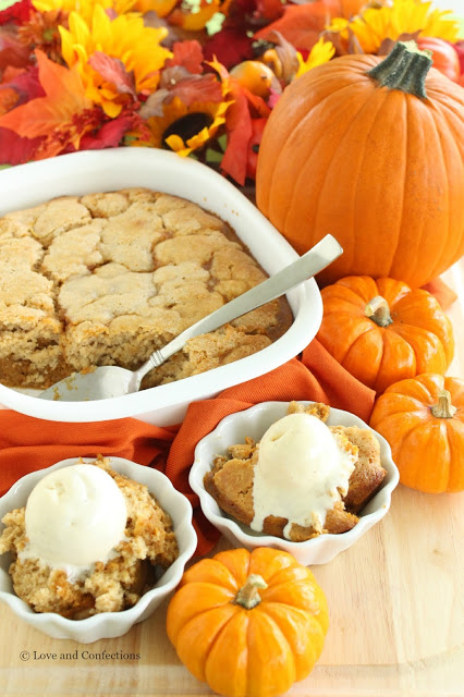 Pumpkin Cobbler from LoveandConfections.com #PumpkinWeek
