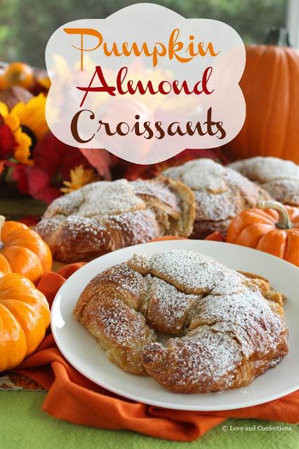 Pumpkin Almond Croissants from LoveandConfections.com #PumpkinWeek
