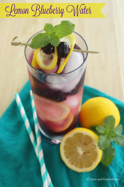 Lemon Blueberry Water from LoveandConfections.com