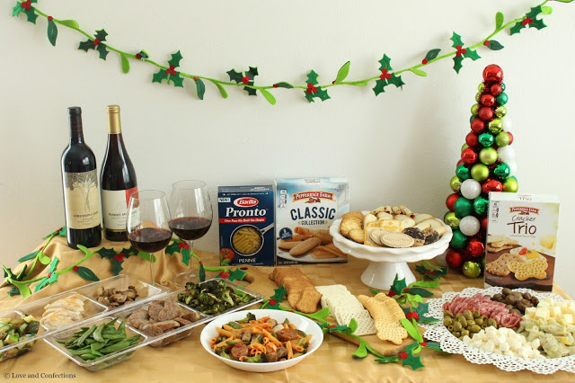 One-Pot Pasta Party from Loveandconfections.com #HolidayPairings