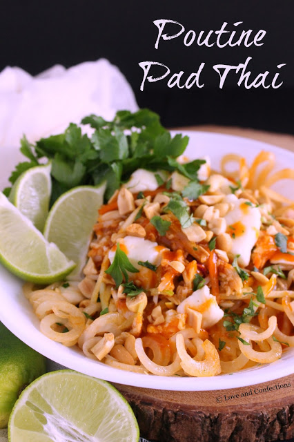 Poutine Pad Thai from LoveandConfections.com