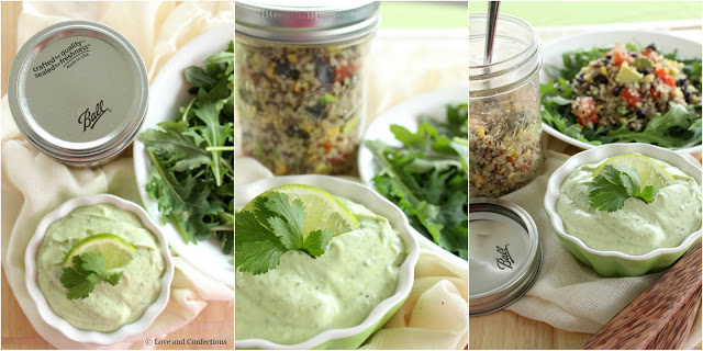 Tex-Mex Quinoa Jars from Loveandconfections.com #StonyfieldBlogger