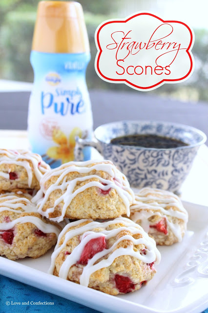 Strawberry Scones from LoveandConfections.com