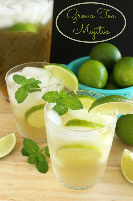 Green Tea Mojitos by LoveandConfections.com #BrunchWeek