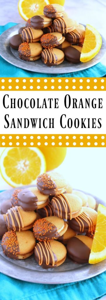 Chocolate Orange Sandwich Cookies by LoveandConfections.com