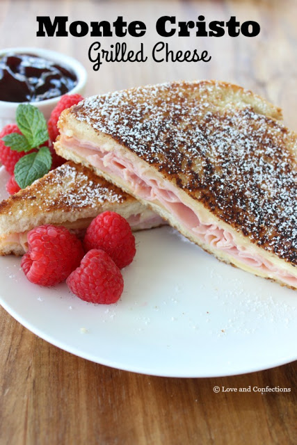 Monte Cristo Grilled Cheese from LoveandConfections.com #SandwichWithTheBest