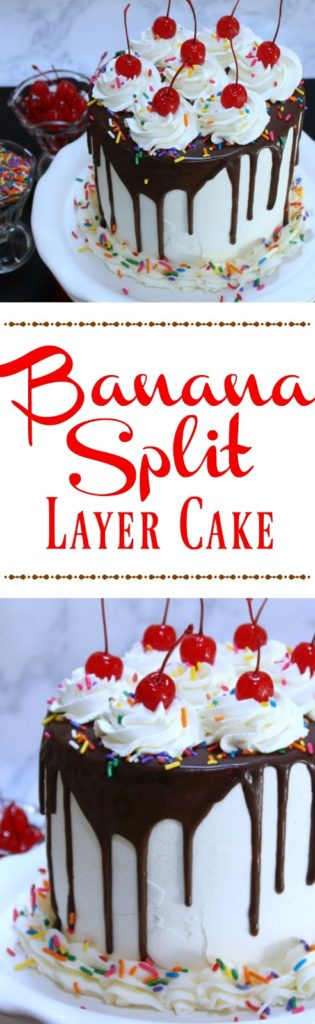Banana Split Layer Cake from LoveandConfections.com