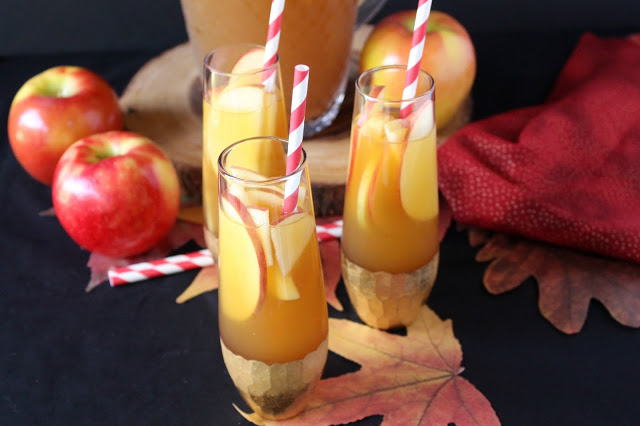 Spiced Apple Cider Sangria from LoveandConfections.com