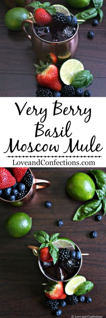 Very Berry Basil Moscow Mule from LoveandConfections.com #FWCon #BerryDelish