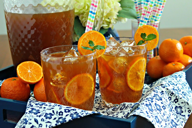 Tangerine Sweet Tea from LoveandConfections.com