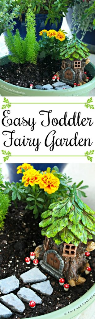 Easy Toddler Fairy Garden from LoveandConfections.com #SnackSnapShare #SnackStories