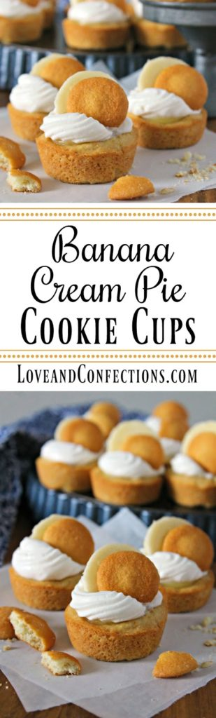 Banana Cream Pie Cookie Cups from LoveandConfections.com