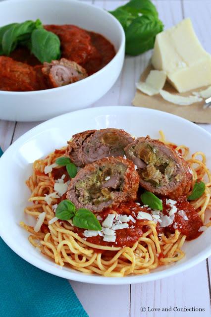 Italian Beef Braciole from LoveandConfections.com