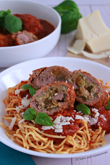 Italian Beef Braciole from LoveandConfections.com