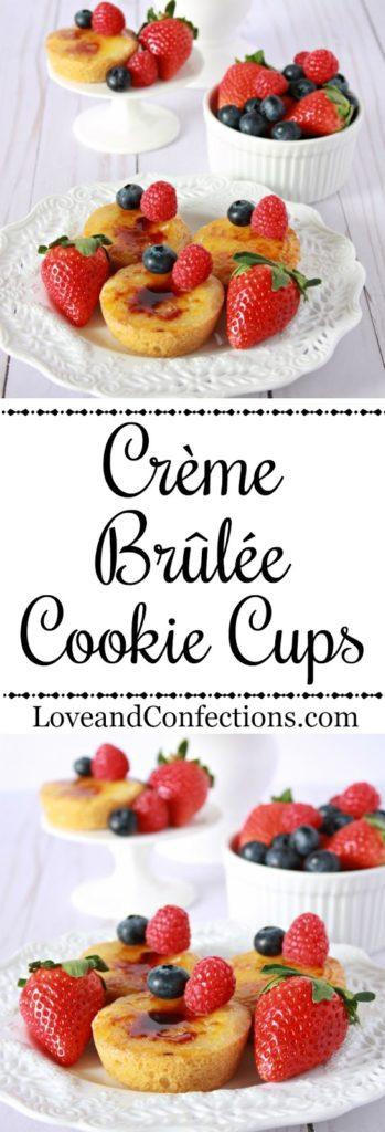 Crème Brûlée Cookie Cups from LoveandConfections.com