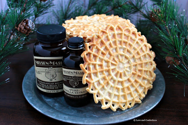 Vanilla Bean Pizzelles from LoveandConfections.com