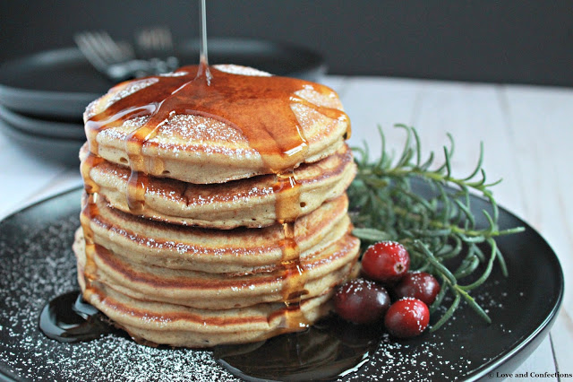 Homemade Gingerbread Pancakes from LoveandConfections.com