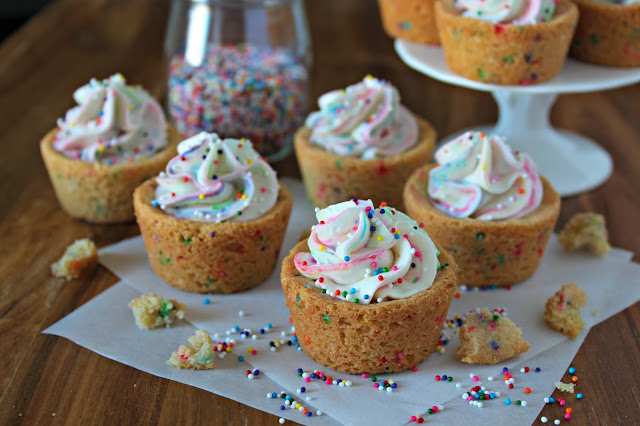 Funfetti Cheesecake Sugar Cookie Cups from LoveandConfections.com #sponsored #EasterSweetsWeek
