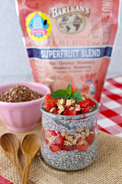 Overnight Strawberry Chia Superfruit Pudding #BrunchwithBarleans #Barleans #sponsored