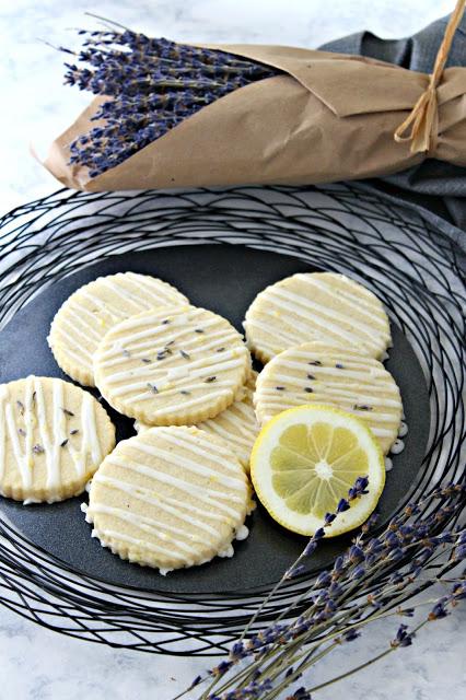 Lemon Lavender Glazed Sugar Cookies from LoveandConfections.com