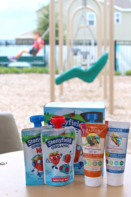 15 Perfect Playground Snacks from LoveandConfections.com #ad @stonyfield #stonyfield @badgerbalm #badgerbalm
