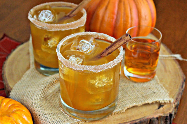 Pumpkin Pie Bourbon Cocktail from LoveandConfections.com #PumpkinWeek #sponsored