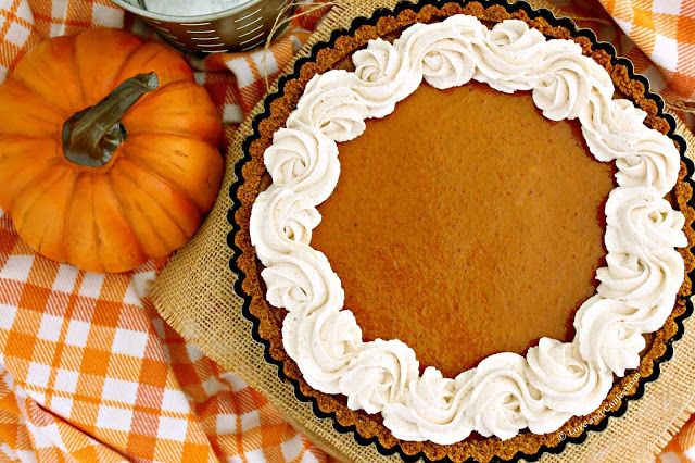 Pumpkin Tart with Pumpkin Spiced Whipped Cream from LoveandConfections.com #PumpkinWeek #sponsored