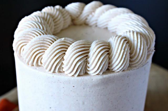 Pumpkin Pecan Pie Layer Cake from LoveandConfections.com #PumpkinWeek #sponsored