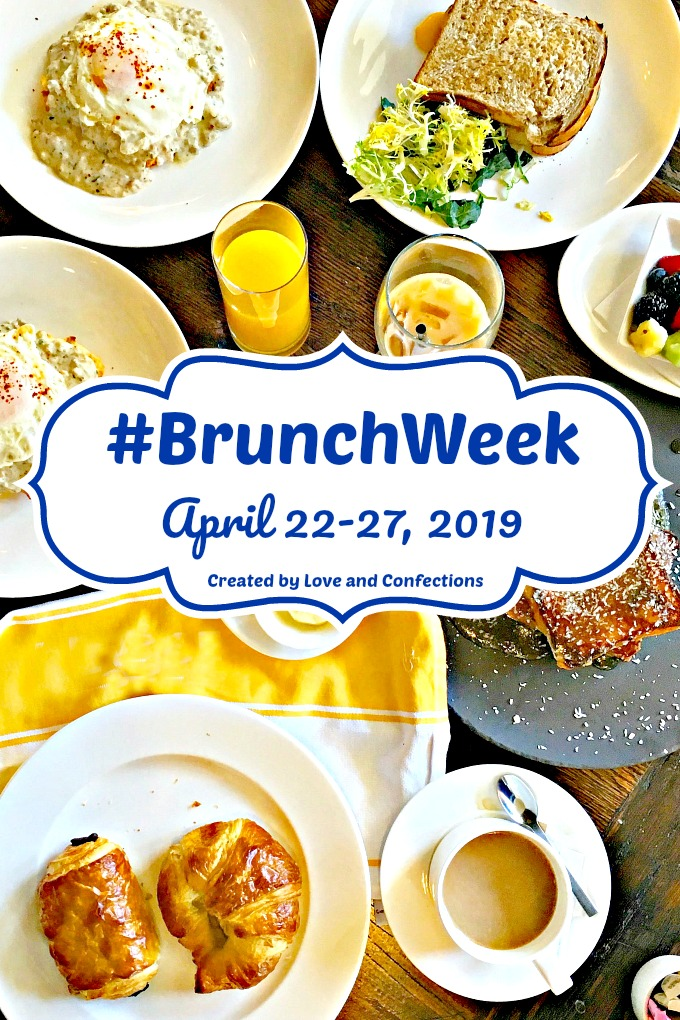 BrunchWeek logo vertical with brunch food background