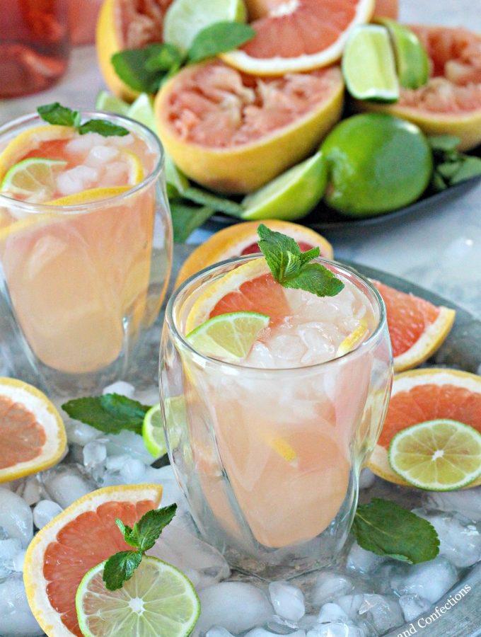 Grapefruit Lime Spritzers