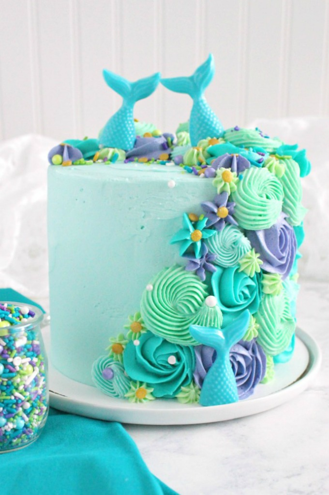 Mermaid layer cake