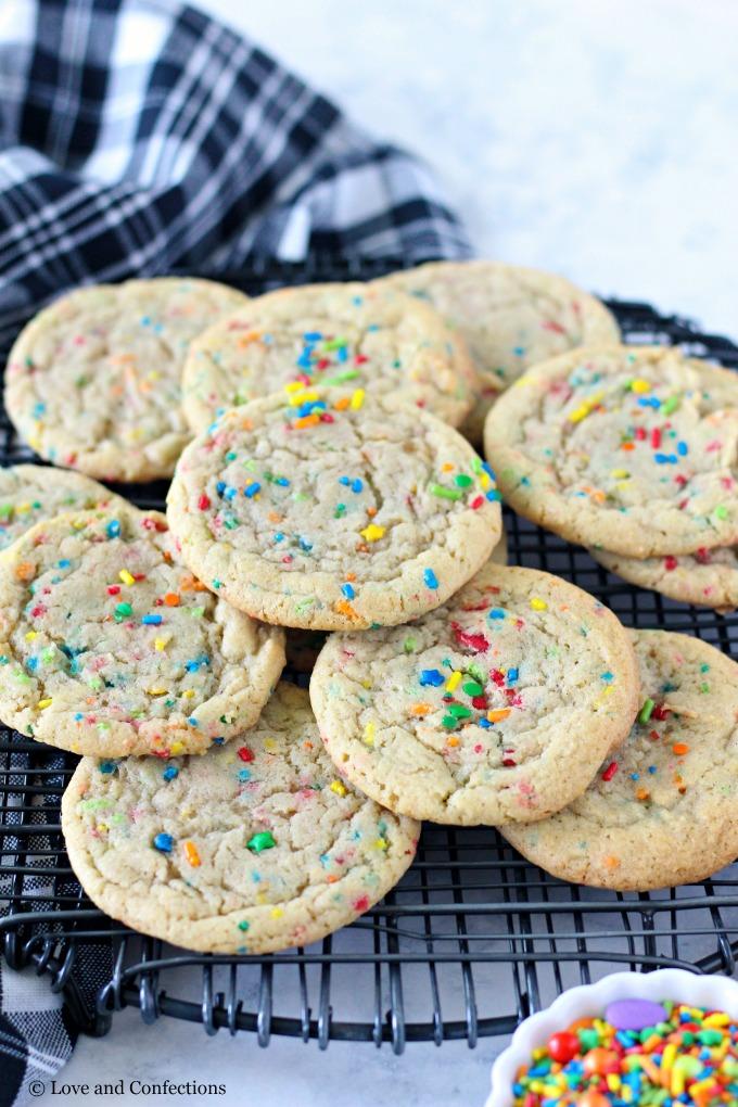 Back-to-School Sprinkle Sugar Cookies