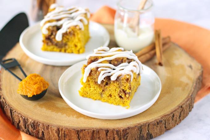 Pumpkin Spice Cinnamon Roll Cake
