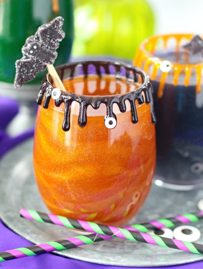 Sanderson Sisters Cocktail - Hocus Pocus Apple Cider Glitter Drink