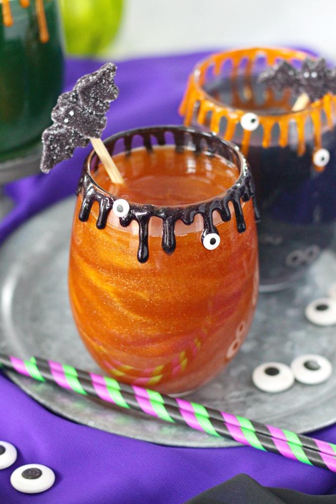 Sanderson Sisters Cocktail - Hocus Pocus Apple Cider Glitter Drink